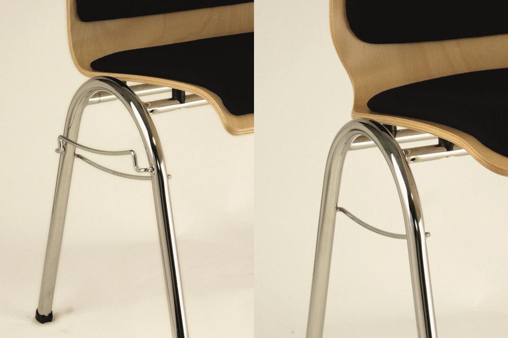 Holzschalenstuhl Modell 103 Varianten Reihenverbindung