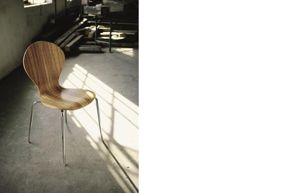 107 - ein Holzschalenstuhl von Kleinkopf
