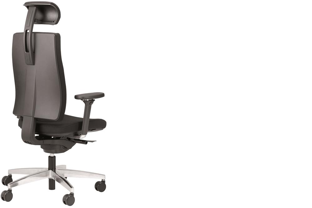 ein Drehstuhl ceto comfort mit Armlehnen und Kopfstütze