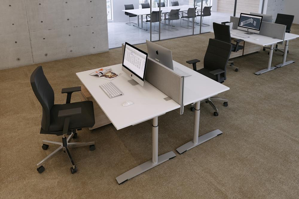 Schreibtisch oka jump mit Tischaufsatzwand