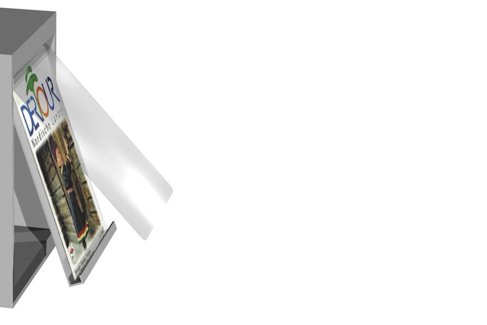 Zeitschriftenschrank Media Detail Folienabdeckung