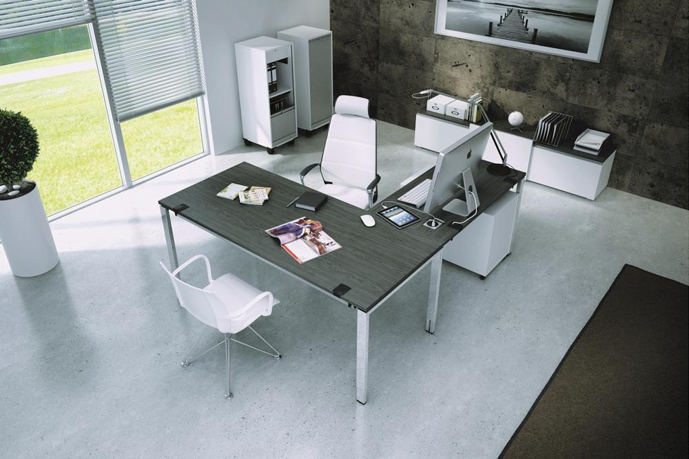 Schreibtisch Oka puron mit Schränken