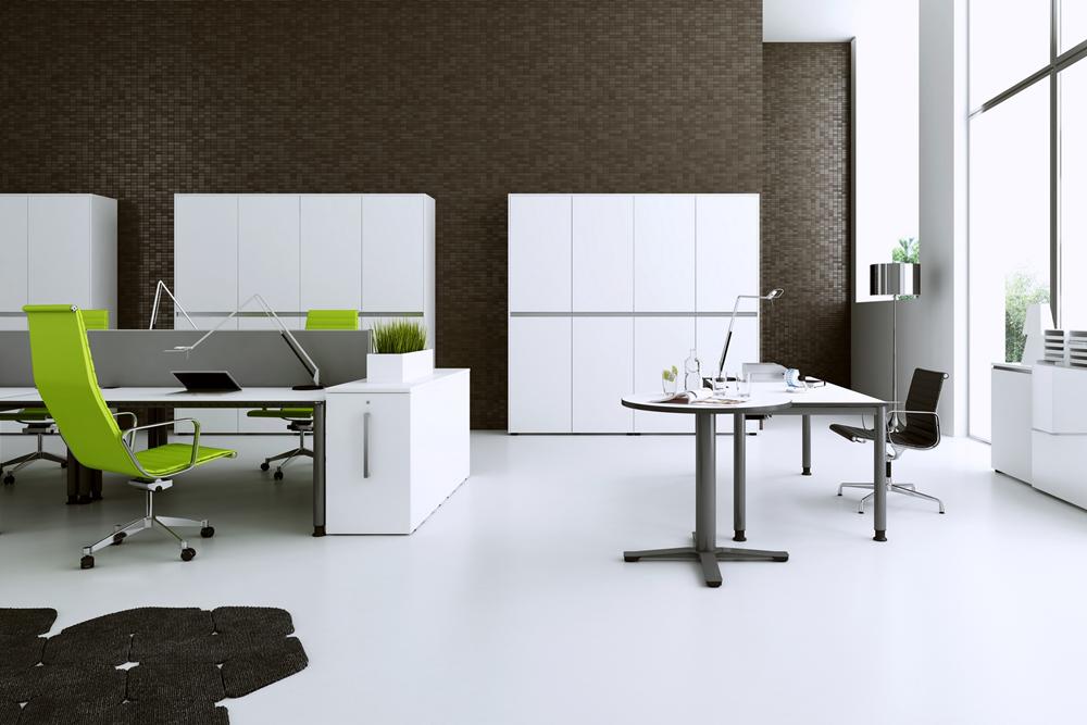 Schreibtisch Oka simply mit Containern